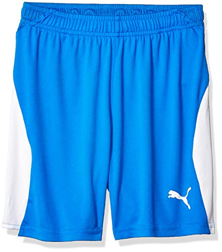 PUMA Youth LIGA Shorts, electric blue lemonade/white, L
