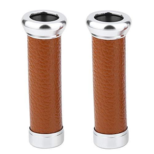 nobrands Puños de Manillar de Motocicleta Universal, Cubierta de Cuero de PU Resistencia al Deslizamiento Reemplazo de protección de Manos(marrón)
