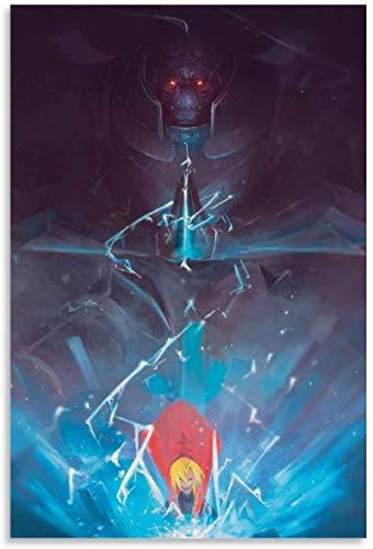 Lienzo Pintura Al óLeo 60x90cm para Chicos Adolescentes Anime Fullmetal Alchemist Edward Elric Decorativo Sala de Estar Dormitorio Poster Y Estampados Arte Cuadros Sin Marco