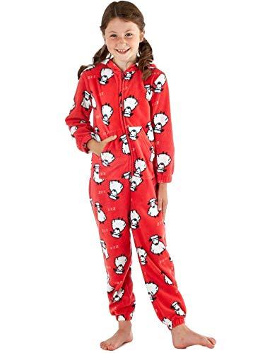 SaneShoppe - Mono de forro polar con capucha para niñas
