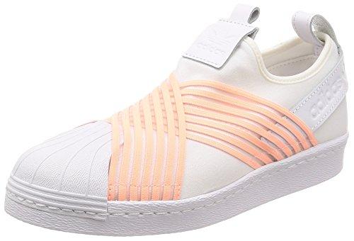 adidas Superstar Slip On W, Zapatillas Mujer, Blanco (Footwear White/Clear Orange/Footwear White 0), 42 2/3 EU