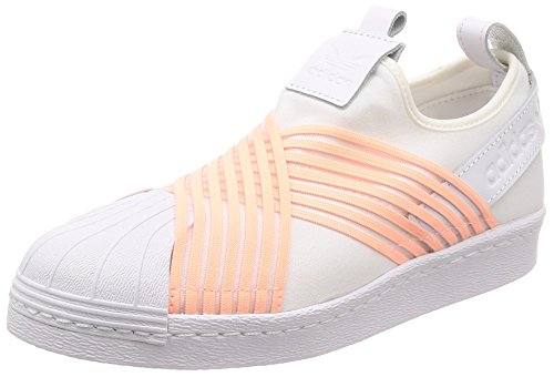 adidas Superstar Slip On W, Zapatillas Mujer, Blanco (Footwear White/Clear Orange/Footwear White 0), 42 2/3 EU
