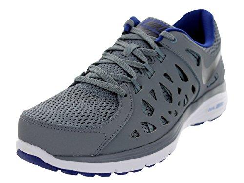 Nike Men's Dual Fusion Run 2 Cool Grey/Deep Royal Blue/White/Black 12 D - Medium