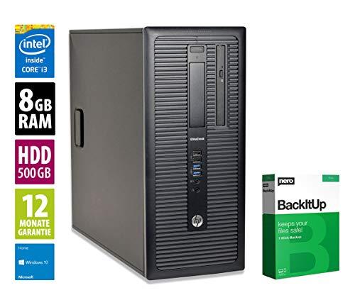 HP EliteDesk 800 G1 MT - Core i3-4130 @ 3,4 GHz - 8GB RAM - 500GB HDD - DVD-ROM - Win10Home (Generalüberholt)