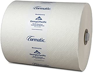 """Georgia Pacific 2930P Cormatic Hardwound Paper Towels, 8.25"""" x 700' Roll, White, Poly-bag Protected (1 Individual Roll of 700')"""