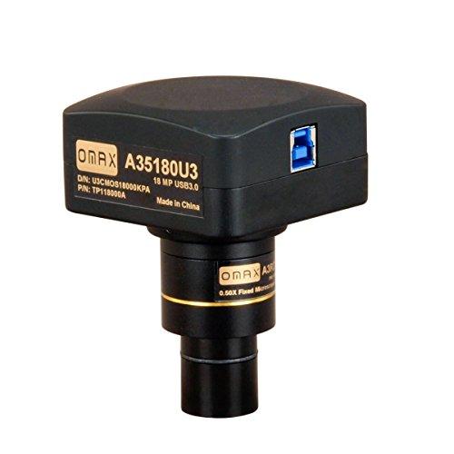 OMAX 18.0MP USB3.0 Digital Camera for Microscope with 0.01mm Calibration Slide (Windows 8 & 10, Mac OS X, Linux Compatible), A35180U3
