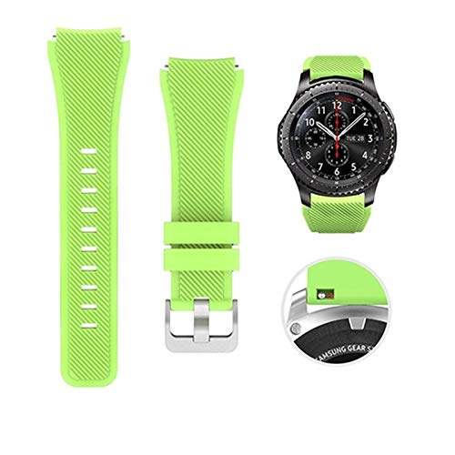 LYDBM Banda de Silicona de 22 mm para Samsung Galaxy Watch 46mm 42mm Correa Deportiva para Samsung Gear S3 Frontier/Clásico Activo 2 Huawei Watch 2 (Color : Color 11, Talla : For Other 22mm)