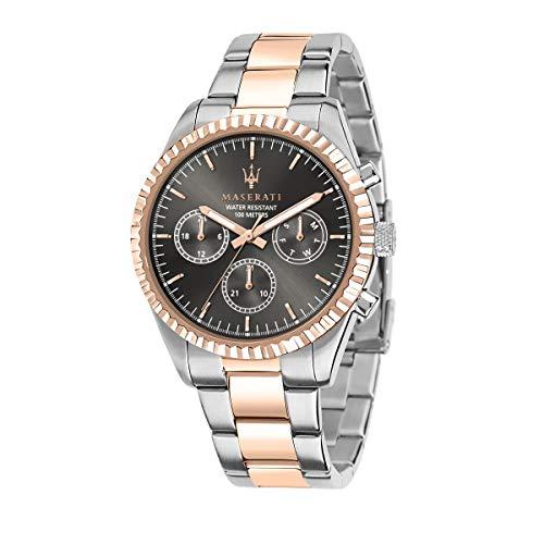 Maserati Orologio da uomo, Collezione Competizione, in Acciaio, PVD Oro rosa, con cinturino in Acciaio inossidabile - R8853100020