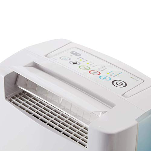EcoAir | DD128 Blue | Electronic Control | 8 Litre/Day | Quiet 39 dBA | Ioniser | Anti Bacteria Silver Filter | Laundry Mode | Timer | Light Weight 6.1 Kg | 2YR Warranty | Desiccant Dehumidifier