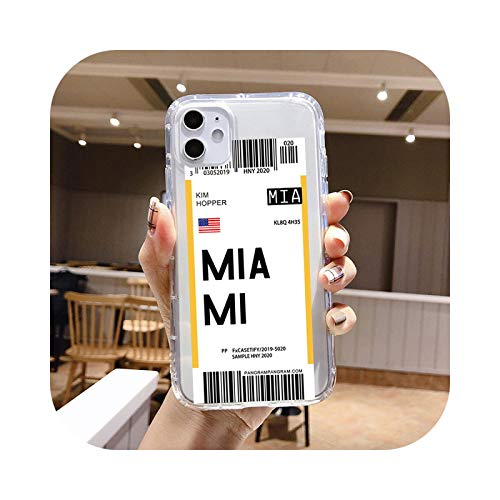 Individuality Air Tickets Londres New York funda para teléfono iPhone 11 Pro Max 7 6S 8 Plus X XS MAX XR suave TPU Silicona Cover - TPU Q431-For 11 PRO MAX