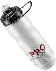 Geïsoleerde Fiets Bidon 680 Ml - Inclusief Ophang Ring - Geschikt voor Fitness en Fietsers - Houdt Inhoud Langer Koel - Zachte Siliconen Mondtuut - Snelle Doorlaat - Soepel Knijpbare Bidon - BPA vrij