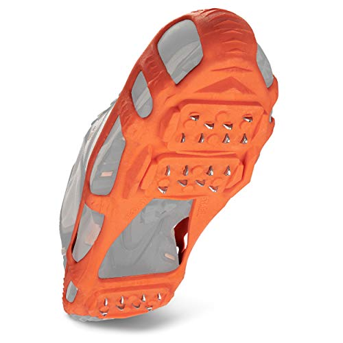 STABILicers Walk Traction Cleat for Walking on Snow and Ice, Orange, Large (1 Pair)