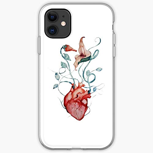 Wall Fan Music Rock Painting The Flowers Floyd Pink Art Watercolor Anatomical Psychedelic Heart- Phone Case for All of iPhone 12, iPhone 11, iPhone 11 Pro, iPhone XR, iPhone 7/8 / SE 2020… Samsung