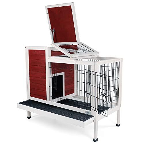 Petsfit Rabbit Hutch Indoor Bunny Cage with Pull Out Tray,...
