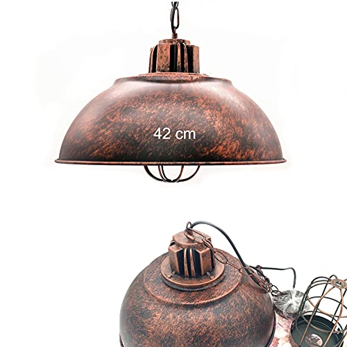 E27 Industriale Lampade a Sospensione lampadario in metallo vintage Interni Lampadari Per Cucina Sala...