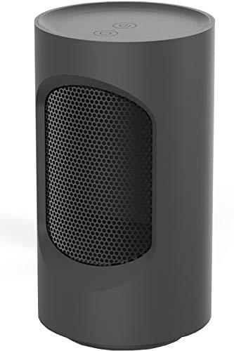 QIQI Calentador Eléctrico Espacial, Calentador Ventilador Portátil de 600 W para el Hogar y la Oficina,Negro