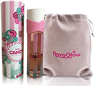 Pink Candy Limited Edition - Eau De Parfum Spray Fragrance for Women - Daywear, Casual Daily Cologne Set with Deluxe Suede Pouch- 3.4 Oz Bottle- Ideal EDT Beauty Gift for Birthday, Anniversary