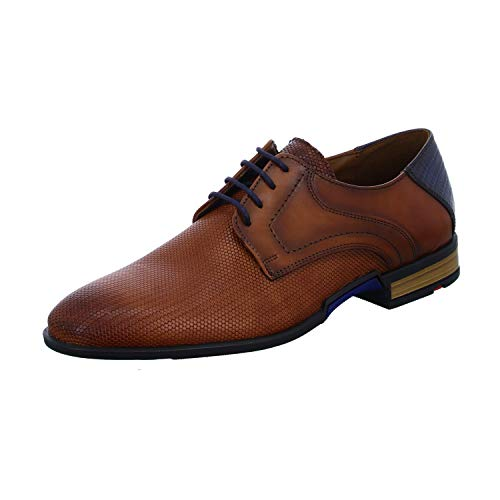 LLOYD Herren Businessschuh RAX, Männer Schnürhalbschuhe, Business-Schuh Office Herren Maenner maennliche maskulin robust,Cognac/Ocean,12.5 UK / 48 EU