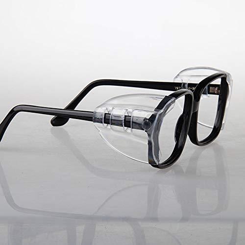 Dylan-EU 2 Paar Brille Seitenschutz Sicherheit Klassen Schutz Augenschutz Flexible Schutzbrille Seitenschilder für kleine bis mittelgroße Brillen - Universal Unisex Doppelloch