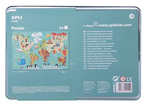 APLI Kids 14550 - Puzle Mapamundi , color/modelo surtido
