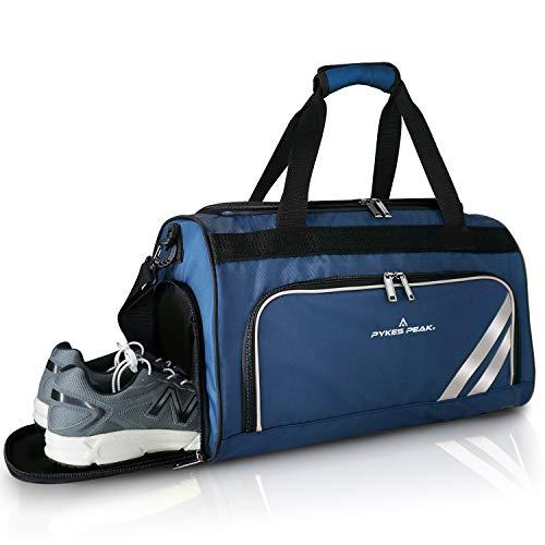 「公式」PYKES PEAK(パイクスピーク)ボストンバッグ【2020年最新版 5色 40L収納】スポーツバッグ【シューズインポケット付き】ゴルフバッグ ジム 旅行 大容量 防水加工 メンズ レディース PP-BAG シリーズ【ネイビー/NAVY】