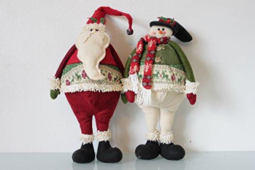Motif & Prim Santa & bonhomme de neige 40 cm Grande caractère 2 assortis – New souple pour 2015