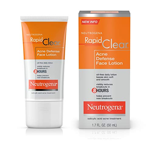 Neutrogena Rapid Clear Acne Defense Face Lotion with Salicylic Acid, 1.7 fl. oz