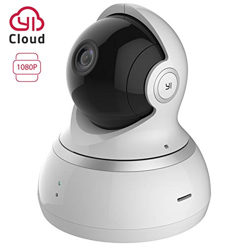 YI Telecamera di Sorveglianza 1080p IP Camera Videocamera WiFi Interno 360° con Sensore Movimento Visione Notturna per iOS / Android (Bianca)