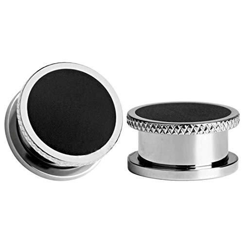 Expansores de Túnel de Oreja Ear Plug - BOOM 2Pcs Dilatadores Dilatación Piercing Joyas con Borde de Acero Quirurgico Inoxidable Gauge 6-20 mm