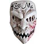Gmasking 2020 Election Year Kiss Me Cosplay Mask Costume Halloween Props White