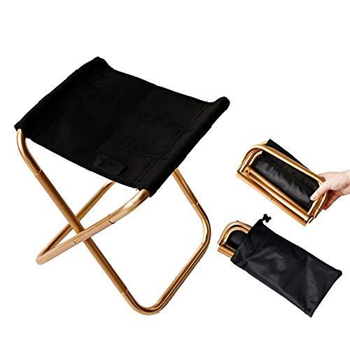 ZFH Mini Camp Stool Silla portátil Plegable Sillas de Exterior para Viaje Reposapiés Compacto Mate