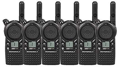 6 Pack of Motorola CLS1110 Two Way Radio Walkie Talkies