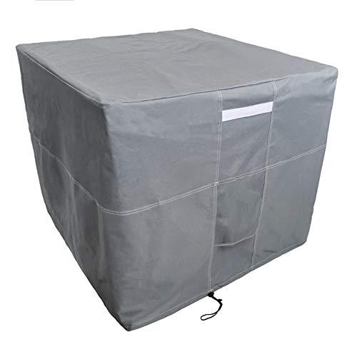 Cubierta de aire acondicionado cuadrada duradera resistente al agua resistente al aire libre, muebles de veranda Cubierta de unidad de aire acondicionado central de invierno con ventilación y manija
