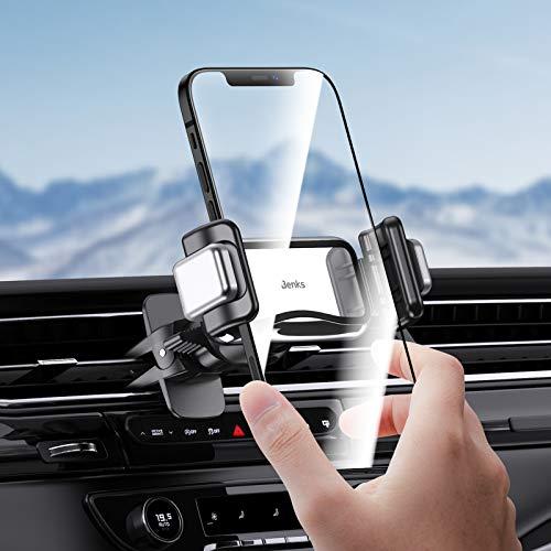 Supporto Smartphone Auto, Porta Smartphone Per Auto Universale Per Presa D aria Da Auto Compatibile con iPhone 12 11 Pro Max XS X XR 8 SE, Samsung (Gray)