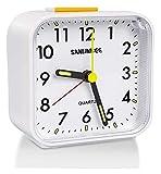 Despertador WTL Reloj Batería de cabecera Aparentamiento analógico Relojes de Alarma sin tictac Reloj de Alarma silencioso con Pantalla Grande Luminosa Función de luz para la Oficina de do