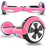 Magic Vida Skateboard Électrique Rose 6.5 Pouces avec Haut Parleur Bluetooth et LED Puissance 700W Auto-Équilibrage pour Enfants et Adultes Gyropode 2 Roues