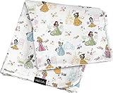 Milk Snob Disney Princesses Baby Blanket - Super Soft, Weighted, Dual Layer - Newborn Swaddle, Security Blanket, Nursery Room Toddler Bed Essentials, Premium Rayon Blend, 36x36'