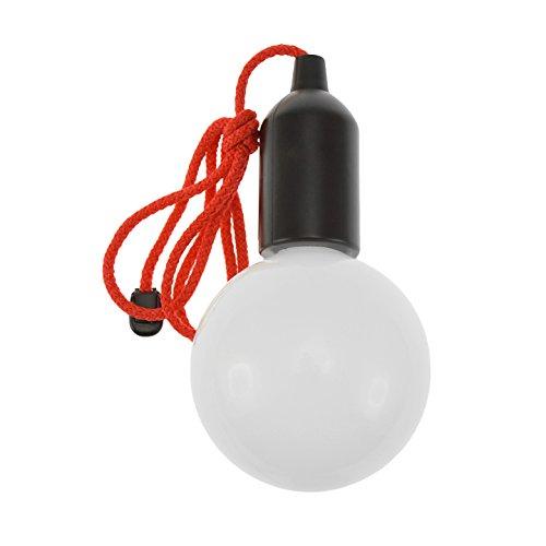 Incidence Paris 17596 AMPOULE CLIC LED XL-Noir, Plastique, 10 x H 19 cm