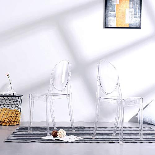 ANAELLE Pandamoto Ghost Silla, Transparente, 2X(91 * 38 * 49) cm