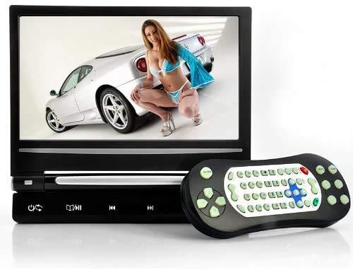 "Gray 9"" Digital Screen Headrest DVD Player Monitor & Wireless Dual Channel Headphone & Built in Games"
