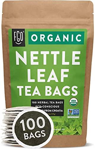 Organic Nettle Leaf Tea Bags | 100 Tea Bags | Eco-Conscious Tea Bags in Kraft Bag | Raw from Croatia | by FGO