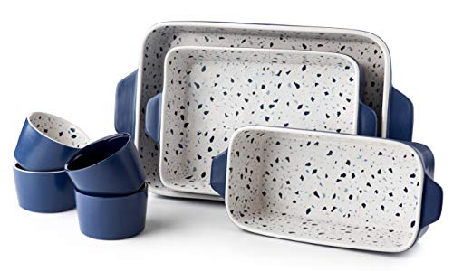 La Rochelle 7 Pc. Ceramic Bakeware Set With Square And Round Pans.