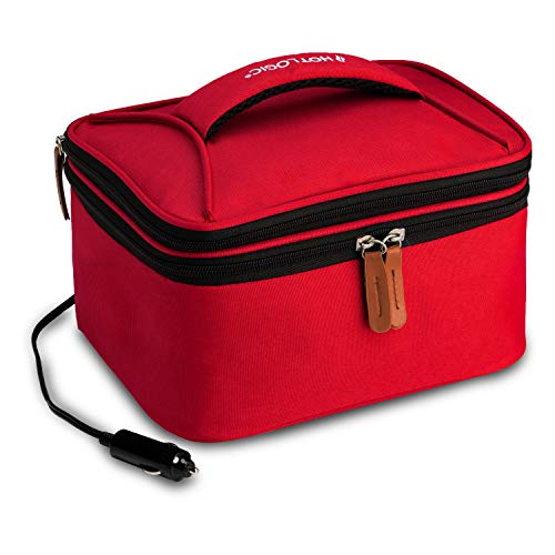 HotLogic 16801174-RD Food Warming Tote Lunch Bag Plus 12V, Red