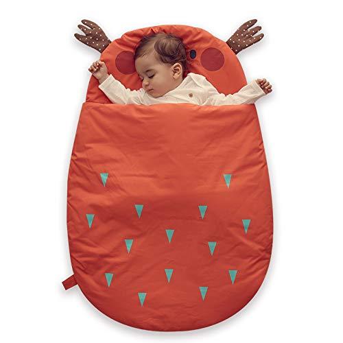 Bebamour Anti Kick Babyschlafsack Safe Nights Cotton Babyschlafsack 2.5 Tog 0-18 Monate und älter Cute Infant Boy Girls Schlafsack Baby Wrap Blanket (Orange)