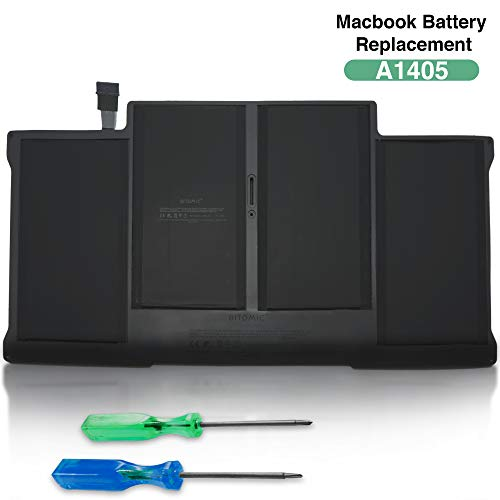 Bitomic A1405 Battery for MacBook Air 13 Inc 7000mAh 7.4V - Compatible with Apple MacBook Air 13' A1405 A1497 A1377 Li-Polymer 661-6055 661-6639