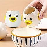 GUANGE Kreativer Eiertrenner, Keramik-Eigelb-Weiß-Separator-Teilerfilter, niedlicher Küken-Modellierungs-Eierteiler zum Backen, Gelb