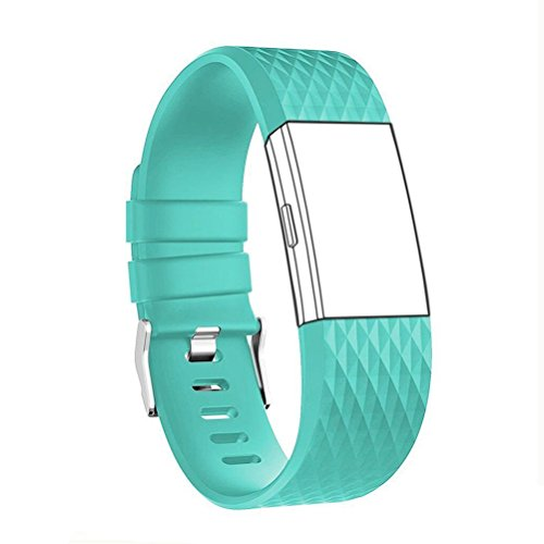 Fitbit Charge 2 Band Classic Fitness Replacement Accessories Silicone Wrist Band for 2016 Fitbit Charge 2 Special Edition Soft Pink