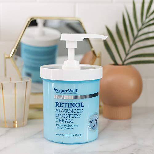 41FbR7zKSxL - NatureWell Retinol Advanced Moisture Cream for Face & Body, 16 oz. | Clinical | Improves Firmness, Tone & Texture
