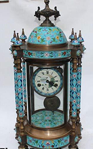 linyiming-gongyibaishe01 SUIRONG - 415 +++ 26 Seltene Cloisonne Emaille Bronze Glas Mechanische Uhren Uhr Zhong Skulptur