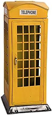 Adanse Yellow British English London Telephone Booth Bank Coin Bank Saving Pot Piggy Bank Phone Booth Box